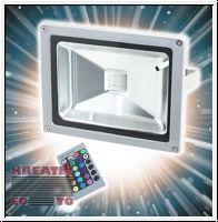 LED RGB Baustrahler 100W, Fluter mit Fernbedienung