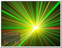 DMX glitter show laser 150mW RGY
