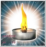Flame Bowl made of solid metal
