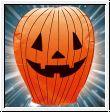 Himmelslaterne Halloween / Fasching als fliegender Kürbis