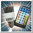 LED RGB Spot-Bulb 5W / E27 with remote control
