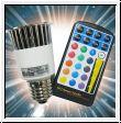 LED RGB Spot-Birne 5W / E27 mit Fernbedienung